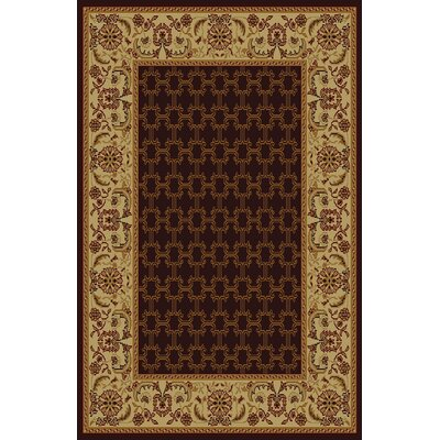 Godmond Brown Area Rug Rug Size: 53 x 72