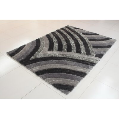 Joshawn Wave Pattern Gray Area Rug Rug Size: 2 x 3