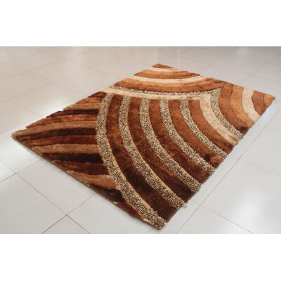 Tosca Gold Area Rug Rug Size: 53 x 72
