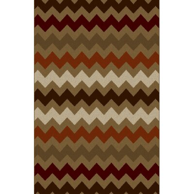 Cam Gray/Brown Area Rug Rug Size: 711 x 910