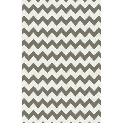 Cendy Gray/White Area Rug Rug Size: 53 x 72