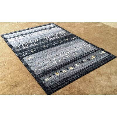 Latisha Black Area Rug Rug Size: Runner 27 x 91