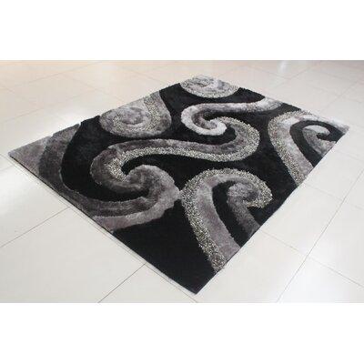 Judlaph Black/Gray Area Rug Rug Size: 53 x 72