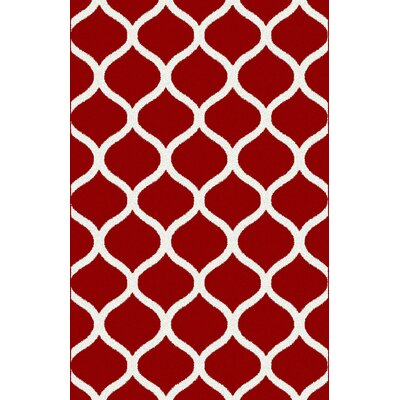 Mykah Burgundy Area Rug Rug Size: 711 x 910