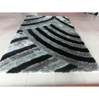 Damann Black/Gray Area Rug Rug Size: 2 x 3