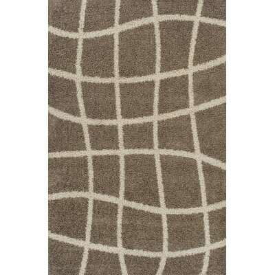 Gabriel Brown Area Rug Rug Size: 711 x 910