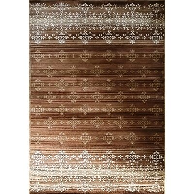 Cahlil Brown Area Rug Rug Size: 53 x 72