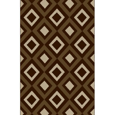 Desiny Gray/Brown Area Rug Rug Size: 53 x 72