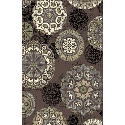 Leith Brown Area Rug Rug Size: 53 x 72