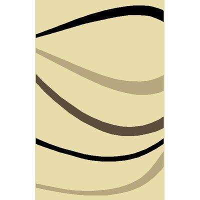 Choya Ivory Area Rug Rug Size: 53 x 72