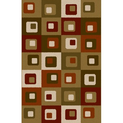 Federico Taupe/Green Area Rug Rug Size: 53 x 72