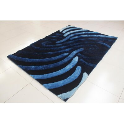 Shelie Stain Resistant Blue Area Rug Rug Size: 711 x 910