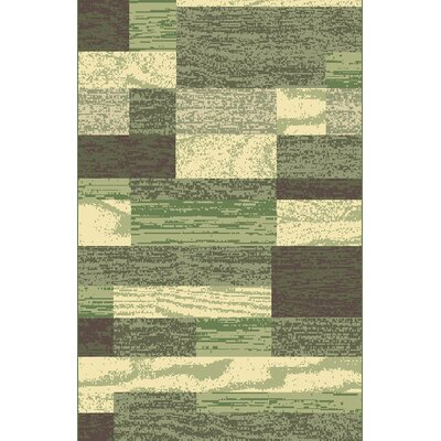 Ronnell Green Area Rug Rug Size: 53 x 72