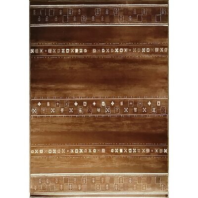Keunta Brown Area Rug Rug Size: 53 x 72