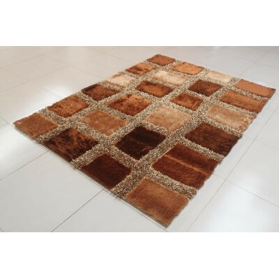 Apel Gold Area Rug Rug Size: 53 x 72