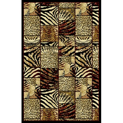 Doris Gold Area Rug Rug Size: 53 x 72
