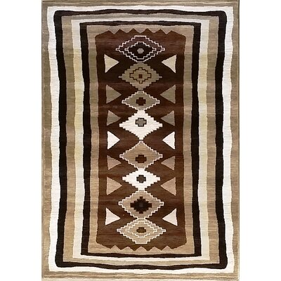 Shuntae Brown Area Rug Rug Size: 53 x 72
