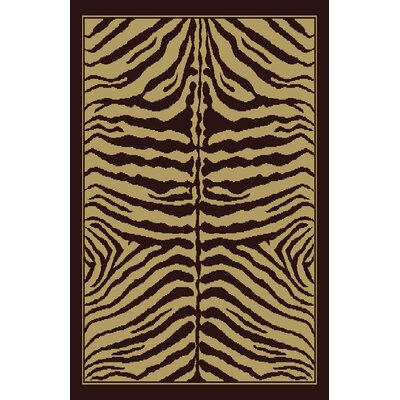 Christina Brown Area Rug Rug Size: 53 x 72