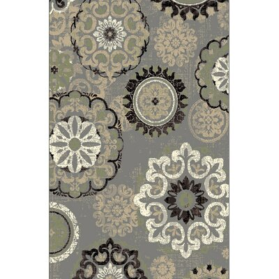 Dickerson Gray Area Rug Rug Size: 53 x 72