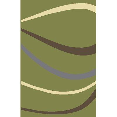 Raluca Green Area Rug Rug Size: 53 x 72