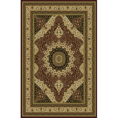 Ardent Burgundy/Brown Area Rug Rug Size: 53 x 72