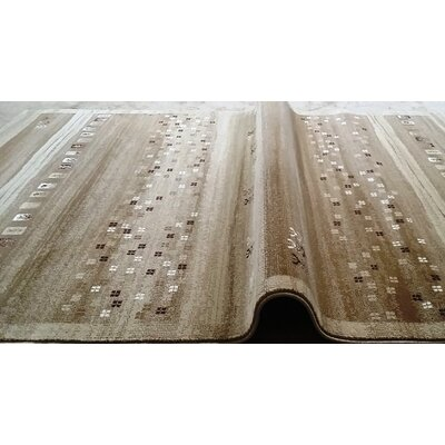Latisha Brown Area Rug Rug Size: 53 x 72