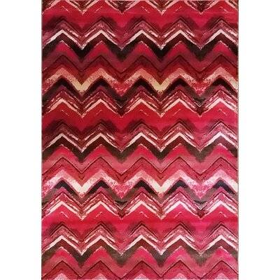 Geren Red Area Rug Rug Size: 53 x 72