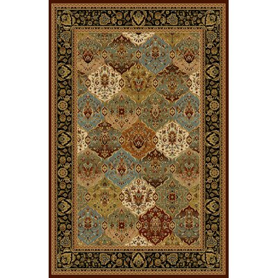 Alsip Dark Brown Area Rug Rug Size: 53 x 72