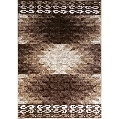 La Junta Brown Area Rug Rug Size: 53 x 72