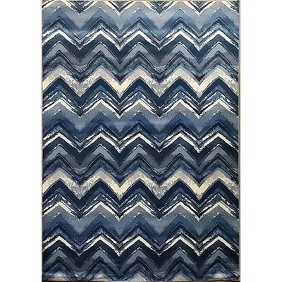 Geren Dark Blue Area Rug Rug Size: Runner 27 x 91