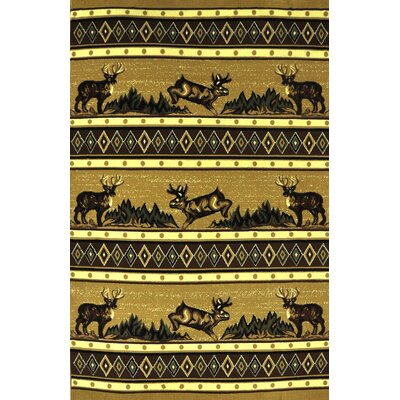 Eckley Brown Area Rug Rug Size: 4 x 6
