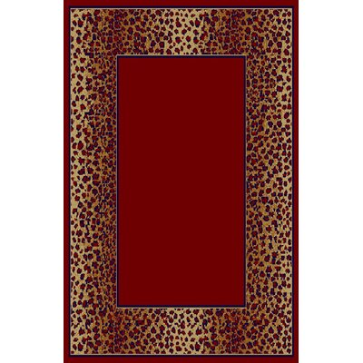 Delia Red/Brown Area Rug Rug Size: 53 x 72