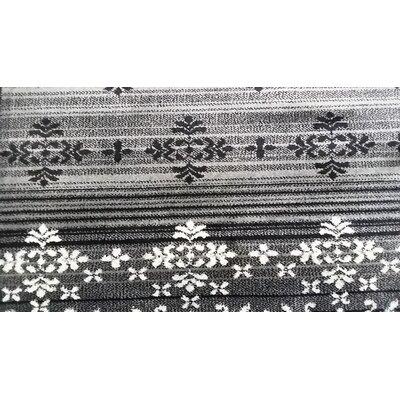 Cahlil Black Area Rug Rug Size: Runner 27 x 910