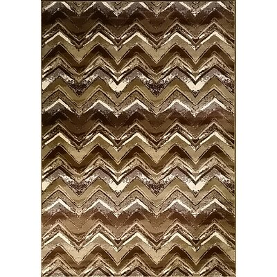 Geren Brown Area Rug Rug Size: 711 x 910