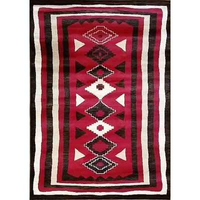 Shuntae Red Area Rug Rug Size: Runner 27 x 91