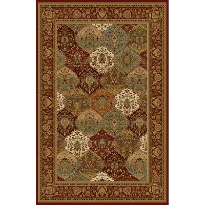 Altieri Red Area Rug Rug Size: 53 x 72