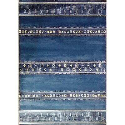 Keunta Dark Blue Area Rug Rug Size: Runner 27 x 910