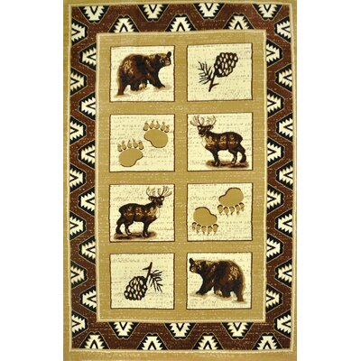 Blue River Brown Area Rug Rug Size: 711 x 910