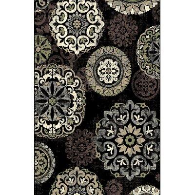 Shaffer Black Area Rug Rug Size: 711 x 910