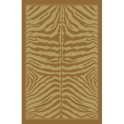 Cindy Ivory/Brown Area Rug Rug Size: 53 x 72