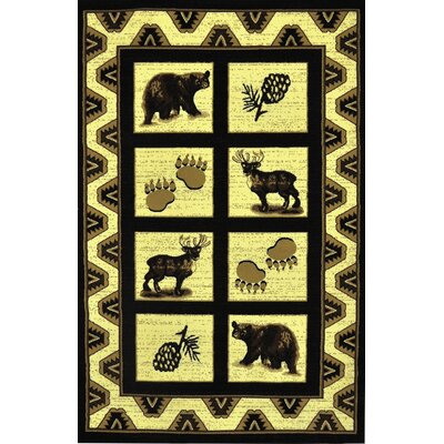 Blue River Black Area Rug Rug Size: 711 x 910