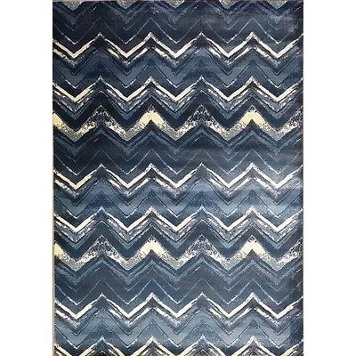 Geren Light Blue Area Rug Rug Size: 53 x 72