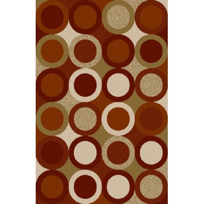 Mack Burgundy/Green Area Rug Rug Size: 711 x 910