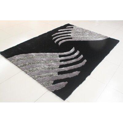 Addae Black/Gray Area Rug Rug Size: 711 x 910