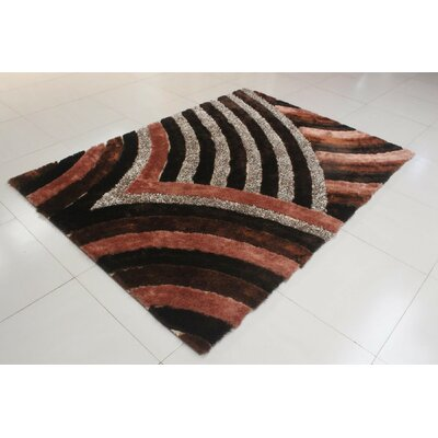 Karuna Brown Area Rug Rug Size: 53 x 72