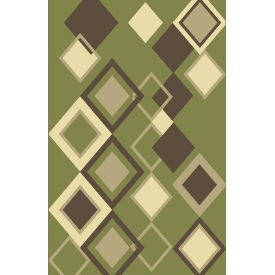 Ailish Green Area Rug Rug Size: 53 x 72