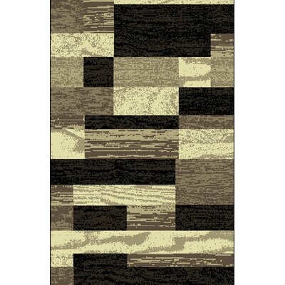 Pryzm Black/Beige Area Rug Rug Size: 711 x 910