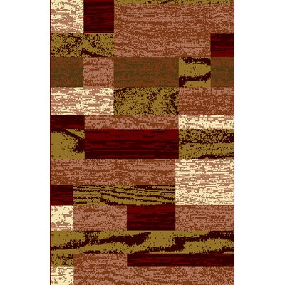 Truman Red Area Rug Rug Size: 53 x 72