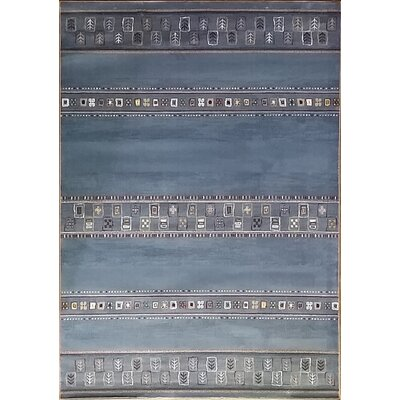 Keunta Light Blue Area Rug Rug Size: Runner 27 x 910