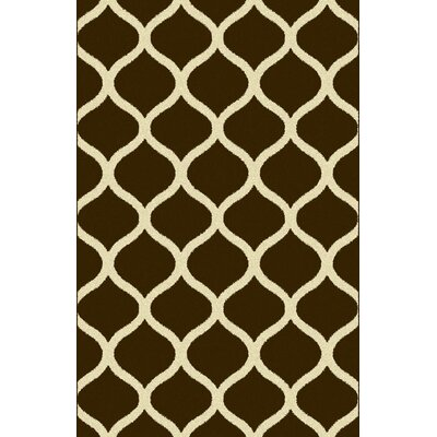 Xavieyah Brown Area Rug Rug Size: 5'3
